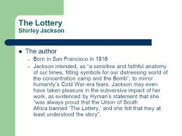themes in the story the lottery the lottery shirley jackson ppt video online download