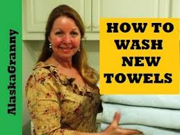 How To Wash Colored Towels - how to wash new towels youtube