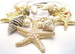 style pearl starfish conch charm bracelet wholesale