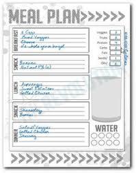 free meal planner menu planning menu and template