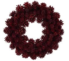 pinecone wreath ed on air 14 rustic mixed pinecone wreath by degeneres