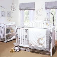 Unisex Crib Bedding Sets Grey Baby Bedding Sets Gray White Celestial Moon W Baby