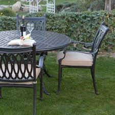 furniture black wrought iron outdoor dining set with round table
