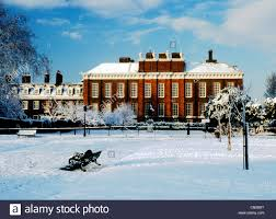 Kensington Pala Kensington Palace Snow Kensington Gardens Winter London England