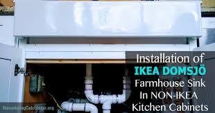 ikea farmhouse sink installation of ikea domsjö farmhouse sink in non ikea kitchen cabinets