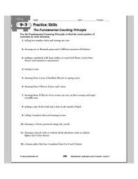 fundamental counting principle lesson plans u0026 worksheets
