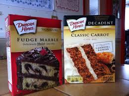 duncan hines fudge marble cake et classic carrot cake produit