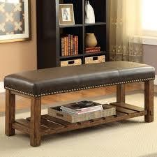 shop leather bedroom bench on wanelo