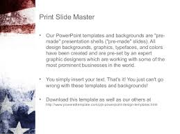 painted american flag powerpoint template