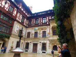 Interior Courtyard Peles Castle The Summer Residence Of Romanian Royalty