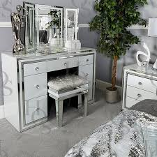 dressing table with mirror and drawers white seattle 7 drawer dressing table house of sparkles