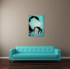 zodiac sign scorpio canvas wall art