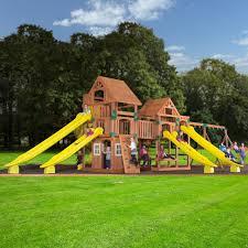 Backyard Discovery Montpelier Cedar Swing Set Wooden Swing Sets Toys