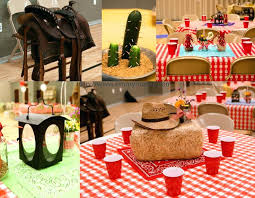 cowboy themed birthday favors western table decor supplies