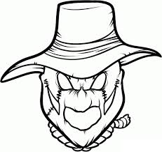 scarecrow coloring pages coloringsuite com