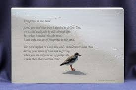 footprints in the sand gifts religious photo gift plaque footprints in the sand poem