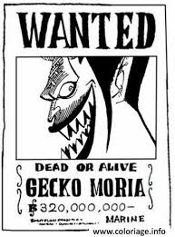 coloriage one piece wanted gecko moria dead or alive dessin