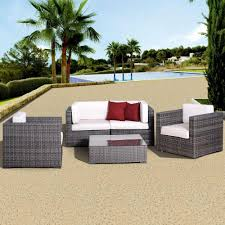White Wicker Patio Furniture Atlantic Contemporary Lifestyle Patio Conversation Sets