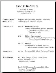 Summer Job Resume Template by Download First Job Resume Template Haadyaooverbayresort Com