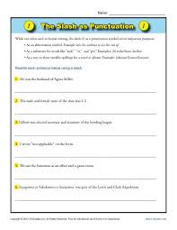 the slash as punctuation punctuation worksheets