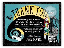 Christmas Baby Shower Invitations - nightmare before christmas baby shower thank you cards di 4525ty