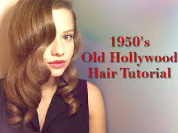 1950s old hollywood inspired hairstyle youtube