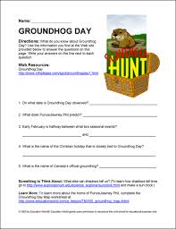 education world internet scavenger hunt punxsutawney phil