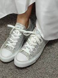 Wedding Shoes Converse Best 25 Silver Converse Ideas On Pinterest Converse Shoes Cute