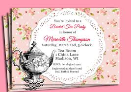 tea party invitation wording for bridal shower infoinvitation co