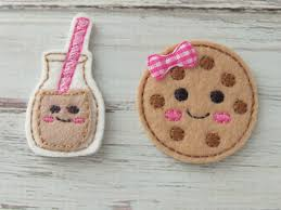 milk and cookie felt appliques cookie and milk appliques