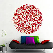 Home Gym Studio Design Aliexpress Com Buy Wall Decals Mandala Indian Pattern Yoga Oum