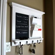 chalkboard ideas for kitchen kitchen white framed kitchen chalkboard with mail storage and