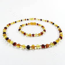 jewelry amber necklace images Premium mixed colors baroque beads 2 item set amber teething jpg