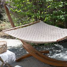 furniture backyard landscaping ideas with cream hammock having