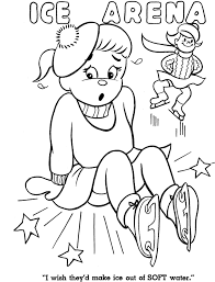 ice arena free winter coloring pages winter coloring pages of