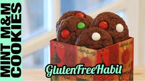 gluten free mint m u0026ms chocolate cookies recipe tutorial christmas