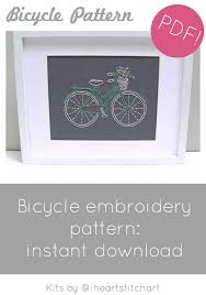 pattern art pdf pdf embroidery pattern bicycle hand embroidery pattern bike