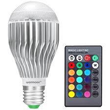 Changing Color Light Bulbs Warmoon E27 Led Light Bulb 10w Rgb Color Changing Led Lamp