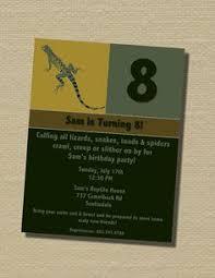 snake and lizard birthday invitation set kids birthday
