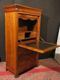 bureau secretaire antique ancien secrétaire louis philippe en noyer 19 ème bureau droit eur