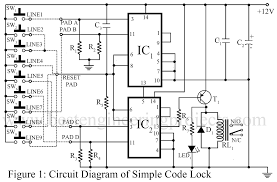 electronic code lock circuit best engineering projects