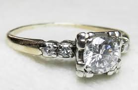 1920s engagement rings antique engagement ring 61 ct tdw 1920s platinum prongs 14k