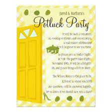 potluck invitation housewarming potluck invitations announcements zazzle