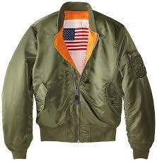 alpha industries men s ma 1 blood chit flight er jacket at