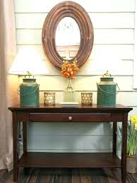 entrance table and mirror red entry table free red console table for by red distressed entry