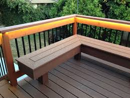Decks With Benches Built In Innovative Composite Wood Bench Decks With Built In Benches