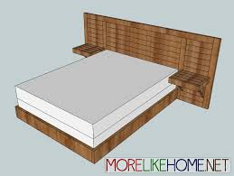 Simple King Platform Bed Frame Plans by Ana White 2x4 Simple Modern Bed Diy Projects