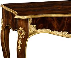 Mahogany Console Table with Antiqued Mahogany Console Table