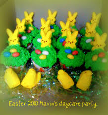 Easter Cakes Decorated With Peeps by Bunny Peeps Easter Cupcakes Cakecentral Com