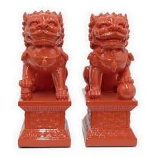 orange foo dogs 185 best foo dog images on foo dog one
